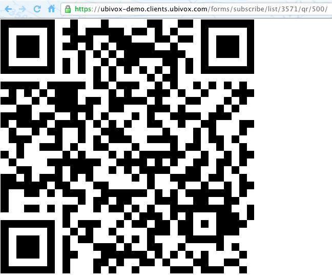 Using a QR code in Ubivox - Ubivox Documentation & Knowledge